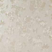 Graham & Brown Cream Shimmer Floral Silk Wallpaper