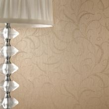 Graham & Brown Golden Leaf Scroll Wallpaper