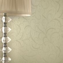 Graham & Brown Green Shimmer Leaf Scroll Wallpaper