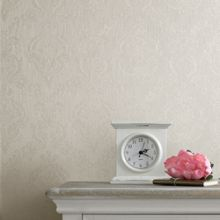 Graham & Brown Cream shimmer damask wallpaper