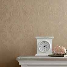 Golden damask wallpaper