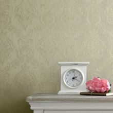 Graham & Brown Green shimmer damask wallpaper