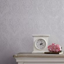 Graham & Brown Silver mist damask wallpaper