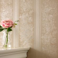 Graham & Brown Golden floral stripe wallpaper