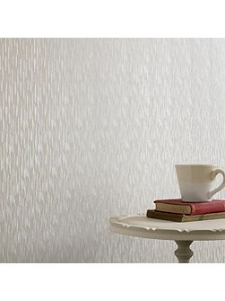 White Shimmer Silken Stria Wallpaper