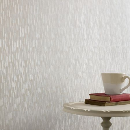 Graham & Brown White Shimmer Silken Stria Wallpaper