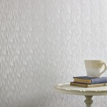 Graham & Brown Silver Mist Silken Stria Wallpaper
