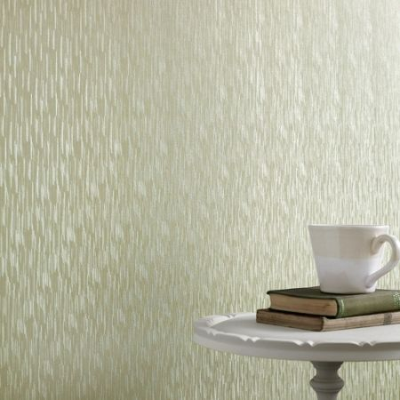 Graham & Brown Green Shimmer Silken Stria Wallpaper
