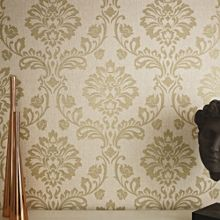Graham & Brown Beige/Gold Aurora Wallpaper