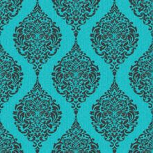 Graham & Brown Turquoise Luna Wallpaper