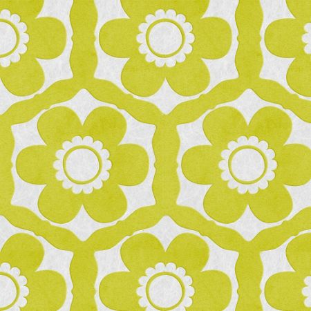 Graham & Brown Lime & Ice Funky Flora Wallpaper