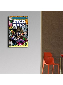 Star Wars Han Solo & Chewbacca Comic Canvas
