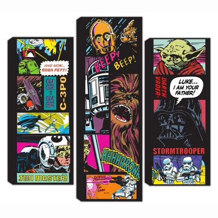 Graham & Brown Star Wars Split Comic Collage Set of 3 Canvas