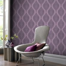 Graham & Brown Plum luna wallpaper