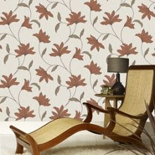 Graham & Brown Orange Alannah Wallpaper