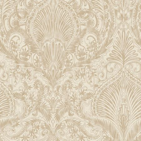 Graham & Brown Cream / Gold Burlesque Wallpaper