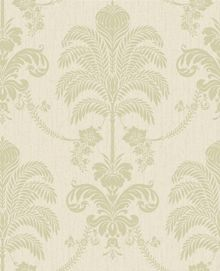 Graham & Brown Green / Cream La Palma Wallpaper