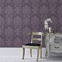 Graham & Brown Purple La Palma Wallpaper