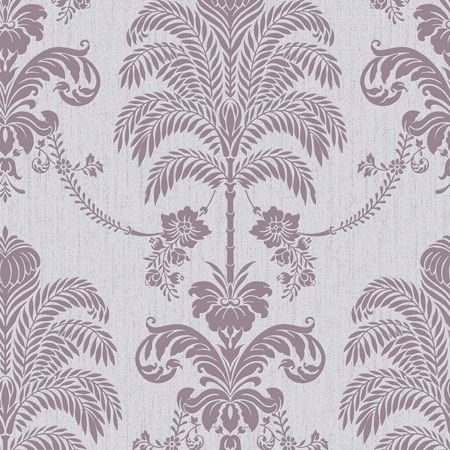 Graham & Brown Lilac La Palma Wallpaper