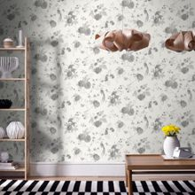 Graham & Brown White / Silver Exotica Wallpaper