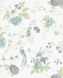 Graham & Brown Duck Egg / Lilac Exotica Wallpaper