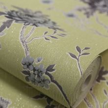 Graham & Brown Green / Grey Exotica Wallpaper