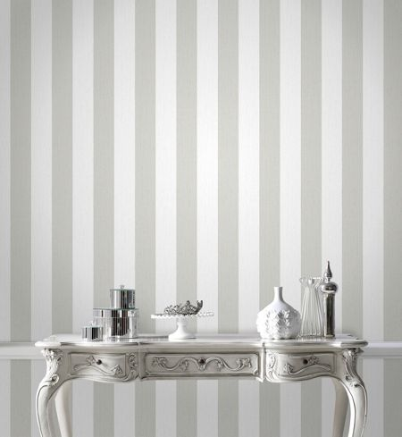 Graham & Brown White / Silver Glitterati Wallpaper