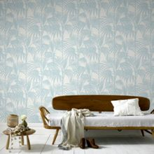 Graham & Brown Duck Egg Honolulu Wallpaper