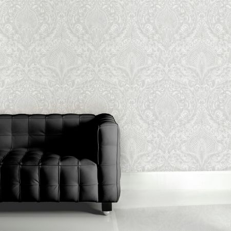 Graham & Brown White Burlesque Wallpaper
