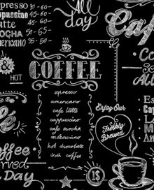 Graham & Brown Black / White Coffee Shop Wallpaper