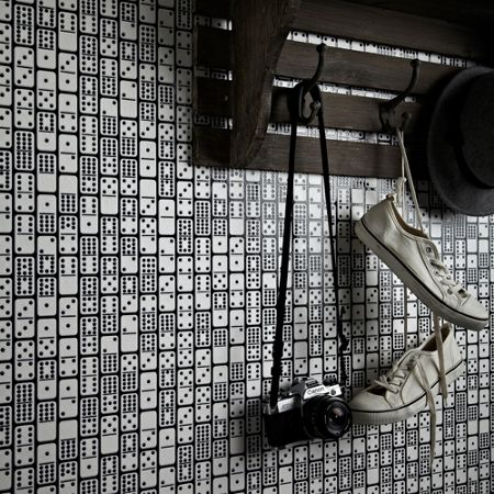 Graham & Brown Black / White Domino Wallpaper