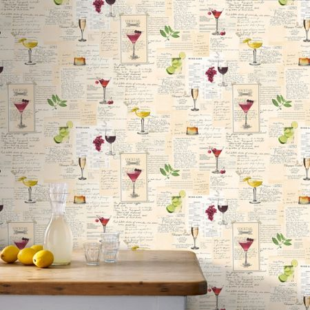 Graham & Brown Multicoloured Cocktails Wallpaper