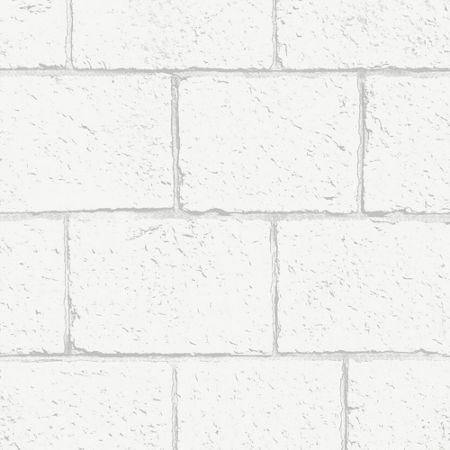 Graham & Brown White Breezeblock Wallpaper