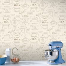 Graham & Brown Cream Afternoon Tea Wallpaper
