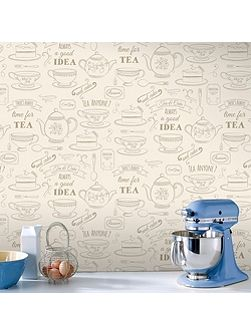 Cream Afternoon Tea Wallpaper