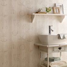 Graham & Brown Beige Nautical Wallpaper
