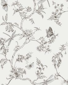 Graham & Brown White Mica Nature Trail Wallpaper