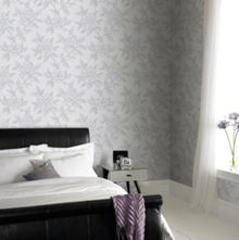 Graham & Brown Grey Floral Bloom Wallpaper