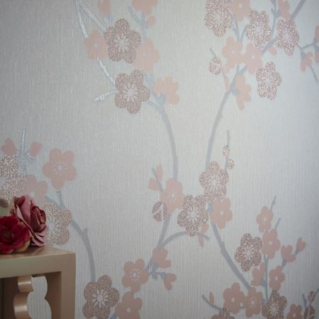 Graham & Brown Pink Cherry Blossom Wallpaper