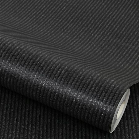 Graham & Brown Black Corduroy Wallpaper