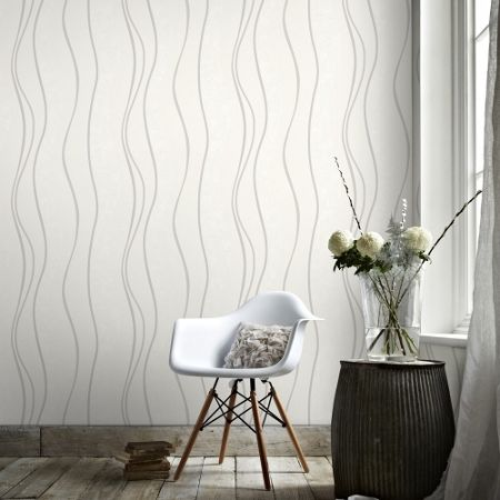 Graham & Brown Silver Elan Wallpaper