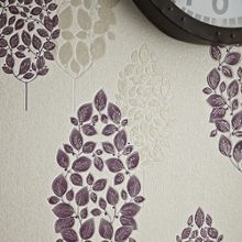 Graham & Brown Plum Lucy Wallpaper