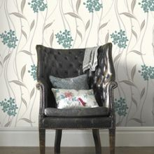 Graham & Brown Silver Elise Wallpaper
