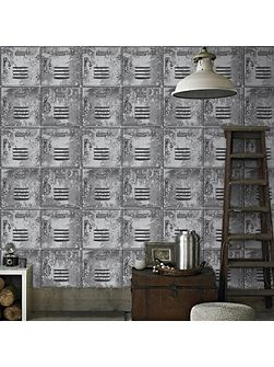Locker Metal Grey Wallpaper