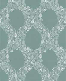 Graham & Brown Blue / White Cloe Wallpaper