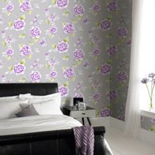 Graham & Brown Violet Chinese Blossom Floral Wallpaper