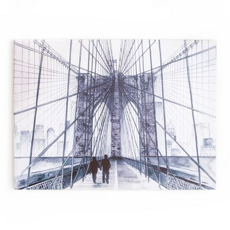 Graham & Brown NYC Watercolour Printed Canvas