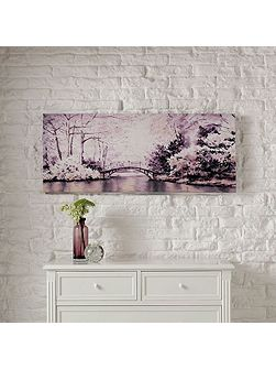 Forest Bridge Printed Canvas