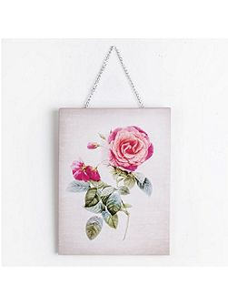 Pink Botanical Bloom Printed Canvas