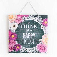 Chalkboard Happy Thoughts Canvas